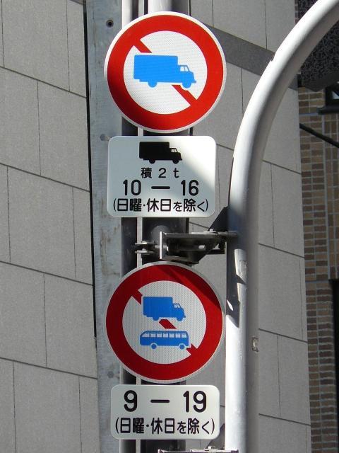 道路標識等<大阪府> 最大積載量関連