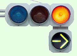 路面電車は 、黄色や赤の信号 ...